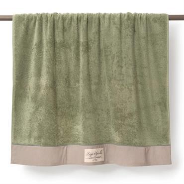 Drap de bain en coton vert 100 x 150 cm MODÈNE