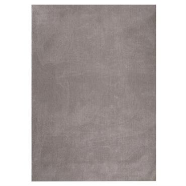 Tapis à poils courts en laine taupe clair 140 x 200 cm SOFT