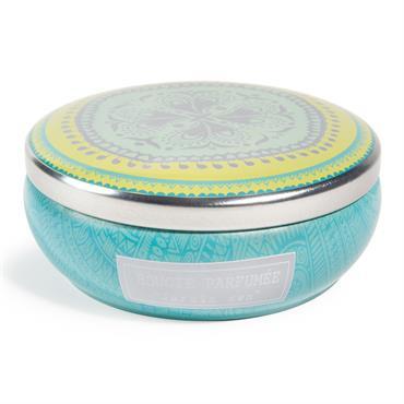 Bougie parfumée coupelle bleue H 5 cm JARDIN ZEN