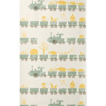 Papier peint Tiny Train / 1 rouleau - Larg 53 cm