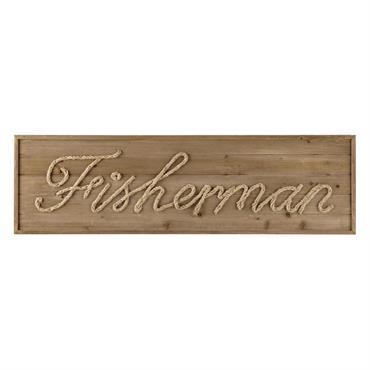 Déco murale en bois et corde L 120 cm FISHERMAN