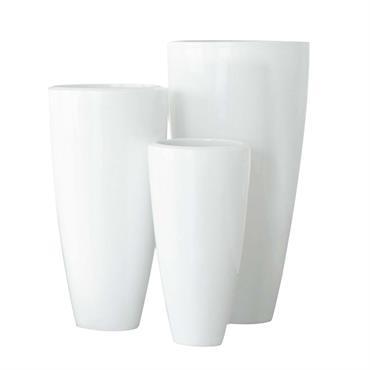 Cache-pot en résine blanc H 90 cm STOCKHOLM
