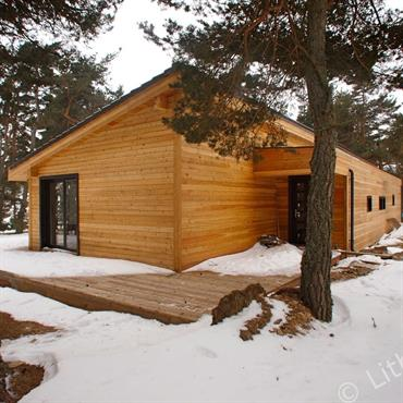 Maison en bois contemporaine.