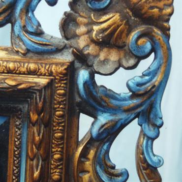 Pousser le Roccoco pour ce miroir destiné au mur Nord du Salon