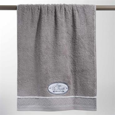 Serviette de bain en coton grise 50x100 JEANNE