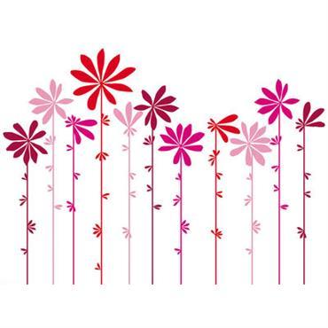 Sticker Tournesol Pink - Domestic rose en matière plastique