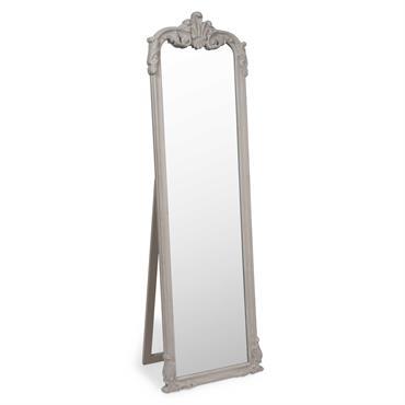 Miroir psyché en bois beige H 178 cm ELINA