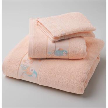 Eponge 100% coton, 400g/m². Lavable à 60° Liteau jacquard