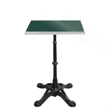 Table de bistrot émaillée carrée