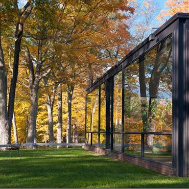 Verrière moderne en plein coeur de la nature - Vue sur le jardin
