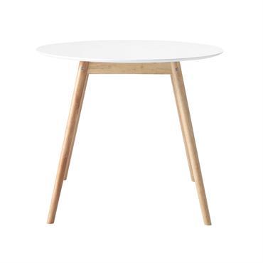 Pour créer un espace convivial, optez pour cette table à manger ronde SPRING en bois blanc. Avec son plateau de 90 cm de diamètre, cette table ronde 4 personnes est ...