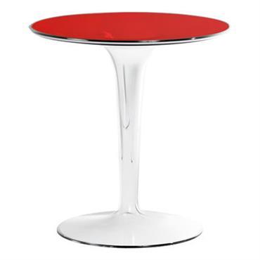 Table d´appoint Tip Top / Plateau PMMA - Kartell rouge en matière plastique