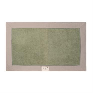 Tapis de bain en coton vert 50 x 80 cm MODÈNE