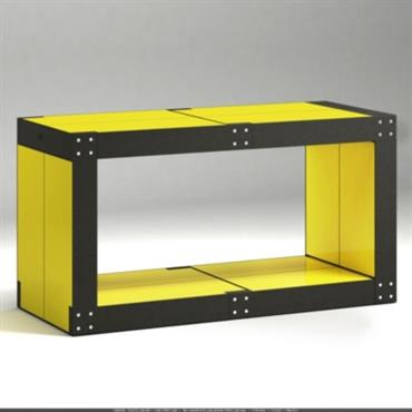 Table basse noire 6 Lems