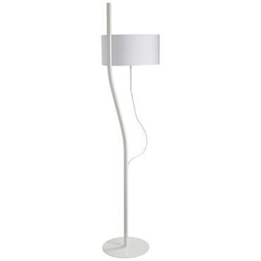 Lampadaire Baladeuse H 170 cm - Forestier blanc en tissu