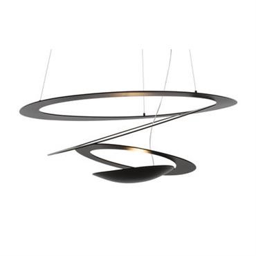 Suspension Pirce Mini LED / Ø 69 cm - Artemide Noir en Métal