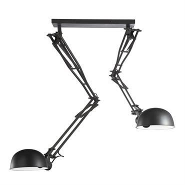 Suspension orientable en métal noire D 120 cm NEWTON