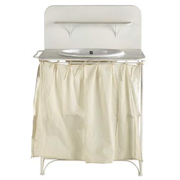 Meuble vasque en métal blanc L 81 cm Romance