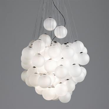 Suspension Stochastic LED / 48 éléments - Ø 40 cm - Luceplan