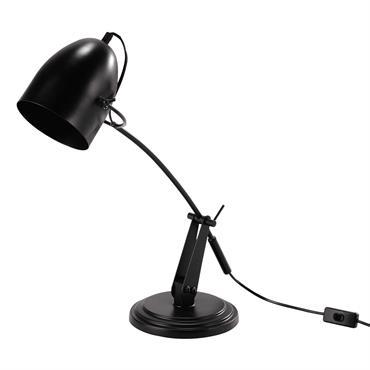 Lampe de bureau en métal noire H 48 cm DUSTIN