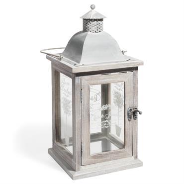 Lanterne blanchi H 36 cm OLIVIER