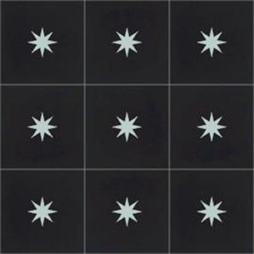 Carreaux de ciment motif étoile N