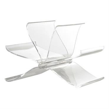 Porte-revues Front Page - Kartell cristal en matière plastique