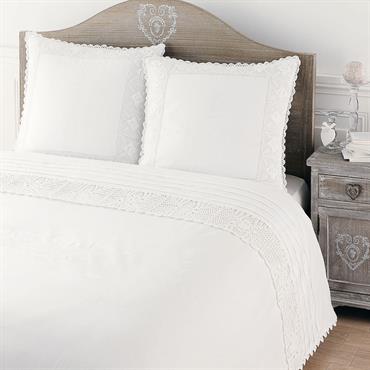Tête de lit en bois de paulownia grisée L 160 cm Camille