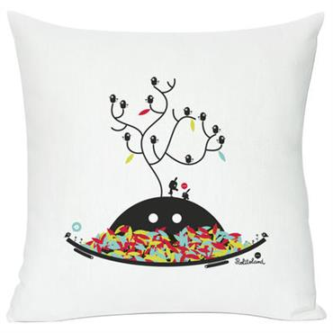 Coussin Autumn wishes / 40 x 40 cm - Domestic blanc