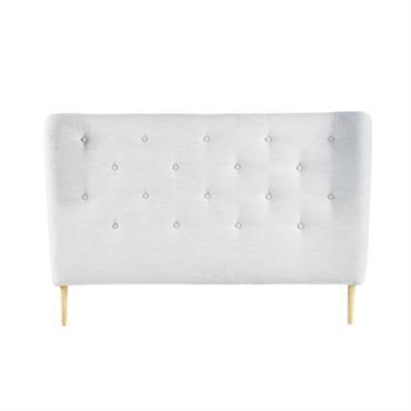 Habillée d'un effet capitonné, cette tête de lit grise donnera une allure élégante à votre lit en toute simplicité. A poser simplement derrière le lit, cette tête de lit capitonnée ...