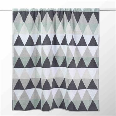 Drap de bain en coton blanche/grise 100x150