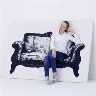 Banquette Canvas / Tableau trompe-l´œil - L 200 cm - Innermost blanc