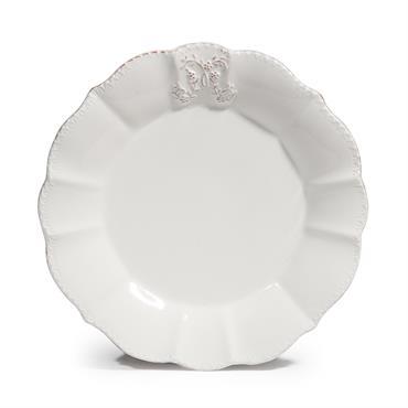 Assiette à dessert en faïence blanche