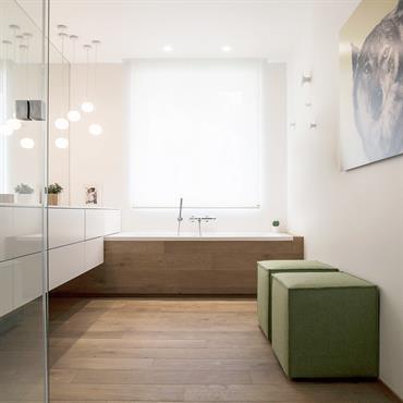 Salle de bain d'un appartement Haussmannien à Paris
