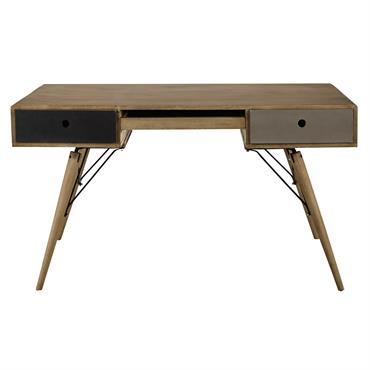 En bois de manguier massif, ce bureau au charme rétro vous offrira un beau plan de travail. Clin d'oeil au design fifties avec ses pieds obliques, ce bureau vintage possède ...