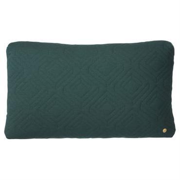 Coussin Quilt / 60 x 40 cm - Ferm Living Vert foncé