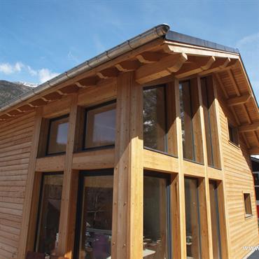 Maison en bois à Chamonix, France