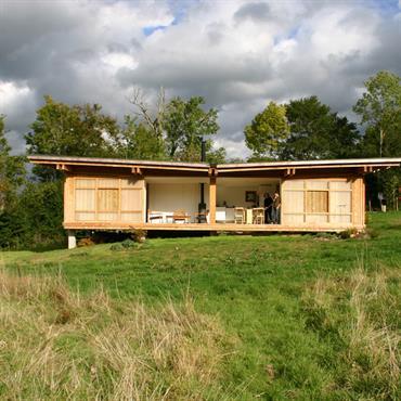 Maison en bois aux inspirations japonaises