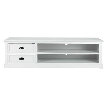 Meuble TV en pin blanc L 160 cm Newport