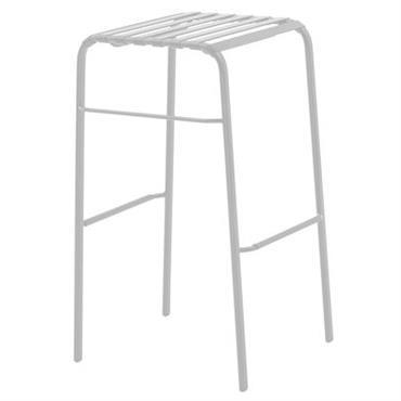 Tabouret de bar Striped / H 78 cm - Assise plastique