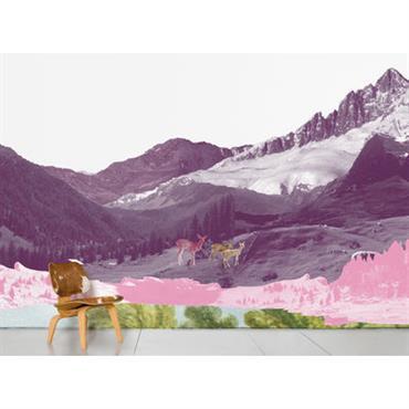 Papier peint panoramique Mont Rose / 8 lés - L 372
