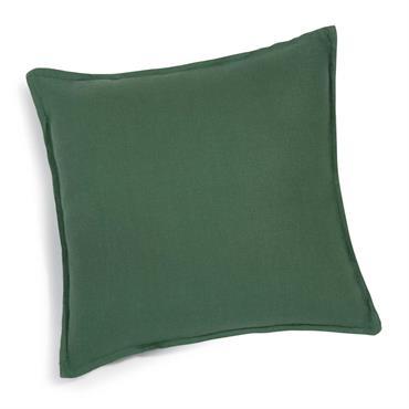 Coussin en lin lavé vert sapin 60 x 60 cm