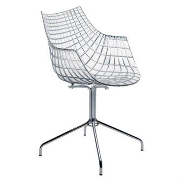 Chaise Meridiana / Polycarbonate transparent - Driade transparent en matière plastique