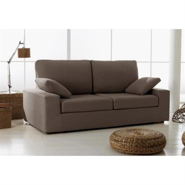Recouvrement : - Tissu coton lin : 72% coton + 28% lin, 410g/m² - Entièrement déhoussable (par fermeture à glissière et bandes auto-agrippantes) pour faciliter l´entretien. - Nettoyage à sec ...