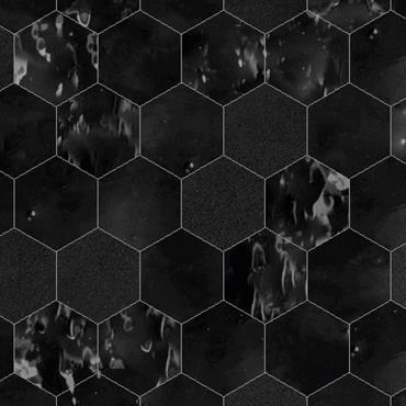 Zellige noirs forme hexagonale