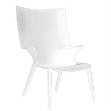 Chaise Uncle Jim - Kartell blanc opaque en matière plastique