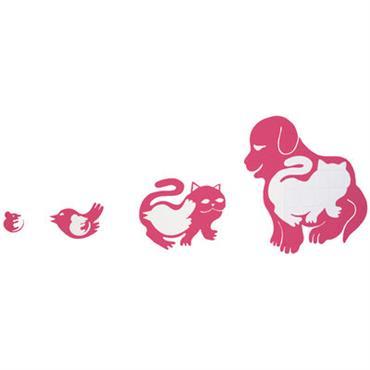 Sticker Pet eat pet - Domestic rose en matière plastique