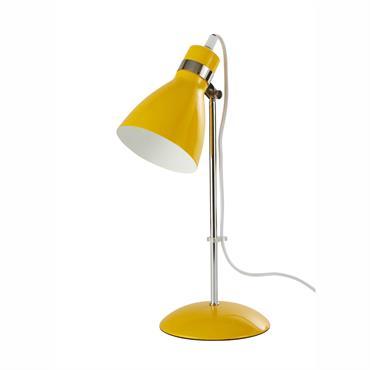 Lampe de bureau en métal jaune