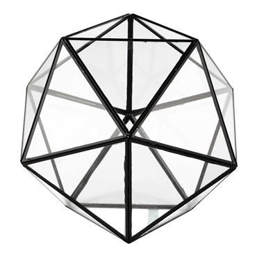 Bougeoir en métal et verre H 31 cm NEWTON