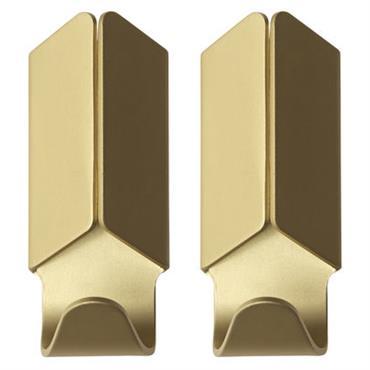Patère Volet / Set de 2 - Hay doré en métal
